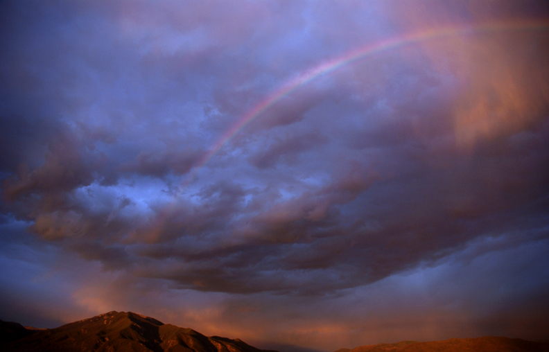 Rainbow over Taos Mountain